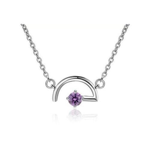 cadena collar con colgante púrpura