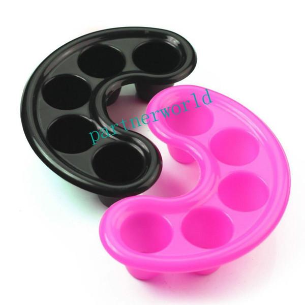 Free Shipping Nail Polish Remover Tool Nail Art Tool - Nail Bubble Bath Spa Bowl Black Nail Soak Off Tray