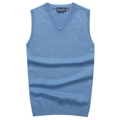 best selling 2018 New Men's V-neck vest sweater 100% cotton POLO sweaters Man's Golf vest sweater Clothing Men's warm Sweaters