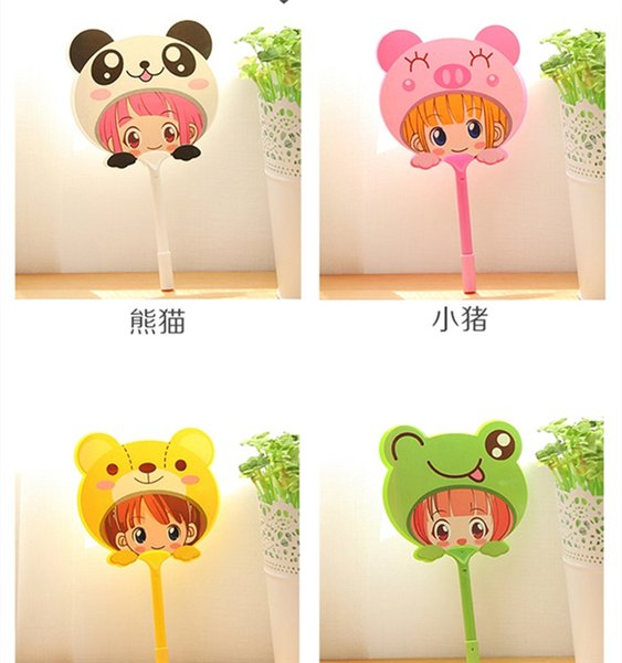 free shipping whiilesale Wholesale explosion models summer essential creative cute adorable animal fan ballpoint hot shake factory outlets