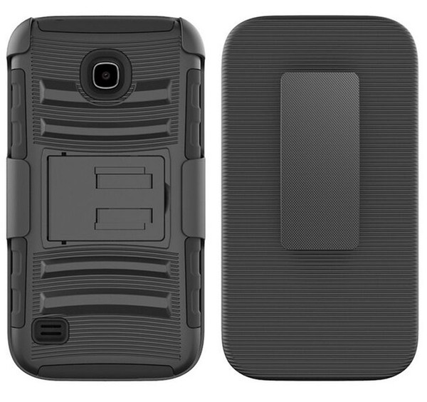 For Huawei Union Y538 Alcatel Dawn 5027 LG K3 Cheap Hard Durable Back Cover Combo Holster Belt Clip Kickstand Hybrid Defender Armor Case