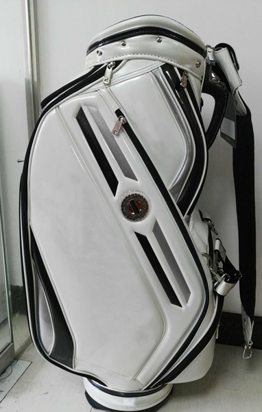 "best selling golf caddy bag 2016 new style Ti 610 PU Golf Bags 9"" in white"