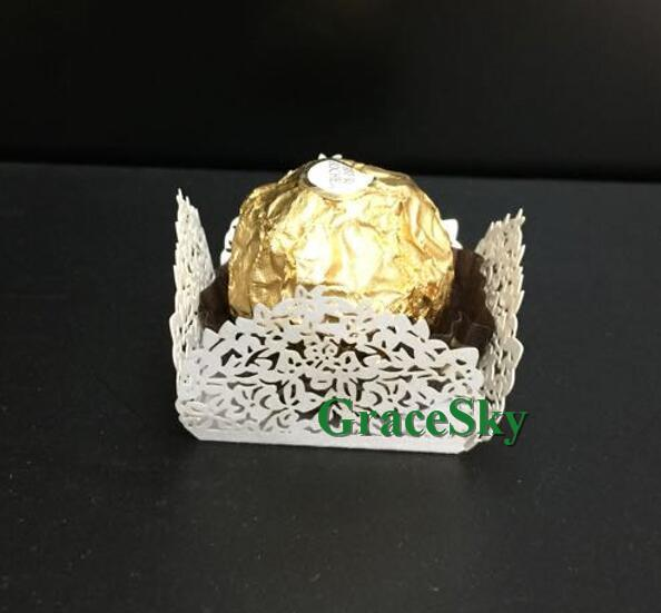 50pcs/lot Free ShippingLaser Cut Lace Flower Candy Chocolate Dessert Paper Muffin holder Cupcake Wrapper Liner for Wedding Birthday Party,