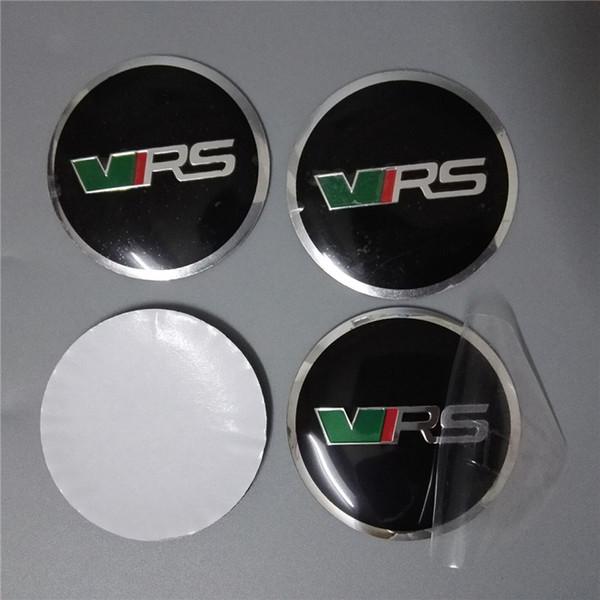 56.5mm Car Decals for Skoda All Cars 4pcs Set Self Adhesive Aluminum Emblem Badge Sticker