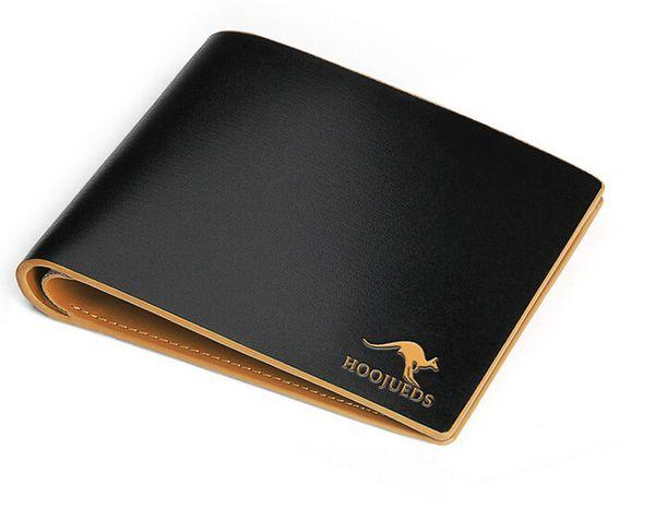 Wholesale- 2017 hot sale men wallets genuine leather wallet Famous design big brand wallets business men purse Multi-card Get a Gift dh258