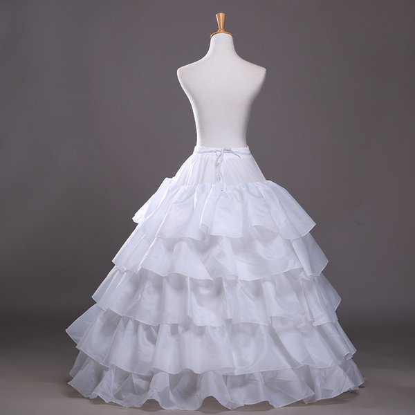 2016 New Ball Gown Petticoat White Crinoline Underskirt Wedding Dress Slip 3 Hoop Skirt Crinoline For Quinceanera Dress Cheap Free Shipping