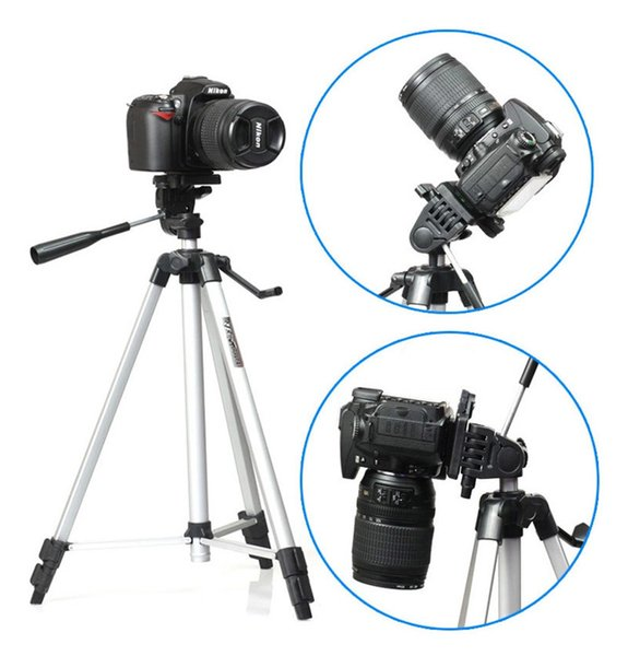 Free Shipping Weifeng WT-330A Professional Tripod Stand Aluminum Camera Tripod for Canon Nikon Sony DSLR Camera Video Camcorder