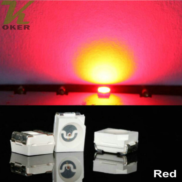 10000pcs/reel Red PLCC-2 SMD 3528 (1210) LED Lamp Diodes Ultra Bright SMD3528 1210 SMD LED Free shipping