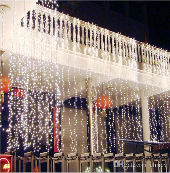2016 neue Weihnachten Küchenvorhänge Licht 10 * 4 Mt 1280LED Ultra Helle LED String Für Urlaub Dekoration Weiß Warmweiß Mit Adapter