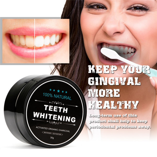 top popular New Best Deal Fashion Stain Remover 100% Natural Organic Activated Charcoal Bamboo Toothpaste Teeth Whitening Powder 2021