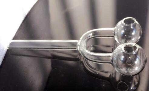 2016 Queimador de Óleo De Vidro Estilingue 14 cm Queimador De Vidro De Vidro Transparente De Vidro Tubulação De Fumo De Óleo Prego Tubo De Água De Vidro De Vidro Grosso Claro