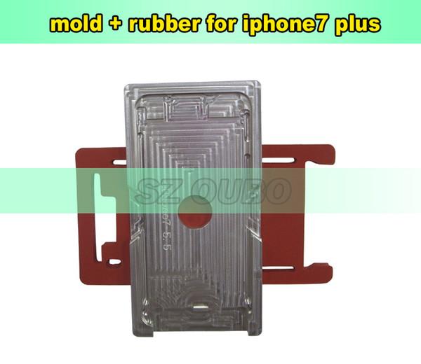 Stampo in alluminio con cornice in vetro per iPhone 7 Plus. Stampo in metallo laminato per la laminazione OCA