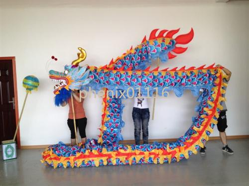 4 mt größe 5 Für 4 schüler seidenstoff Chinese Spring Day DRAGON DANCE ORIGINAL Dragon Chinese Folk Festival Celebration Costume