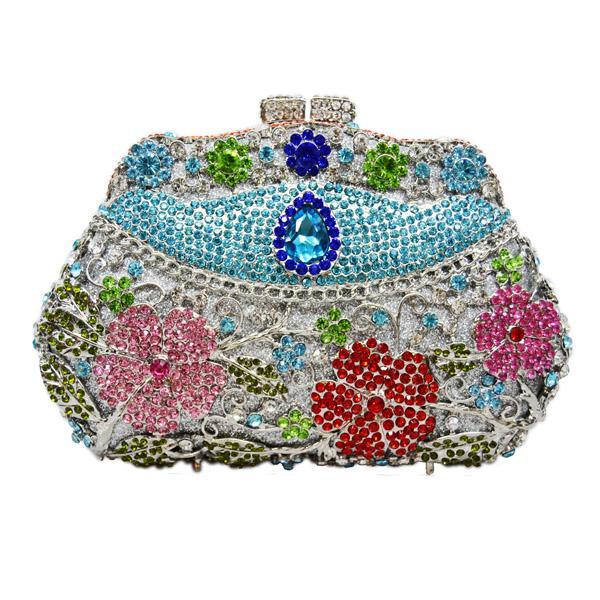 C Blue Clutch Bag