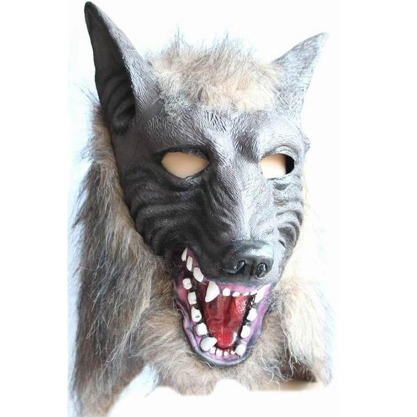 Werewolf Halloween Mask Big Bad Wolf Adult Full Head Wolf Mask Costume Accessory Party Masks free shipping
