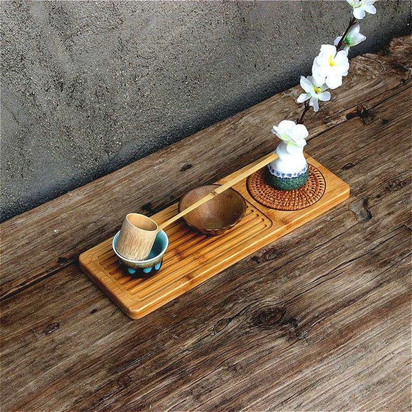 bamboo tea table Cup holders Kung Fu Tea Accessories hand made all natural