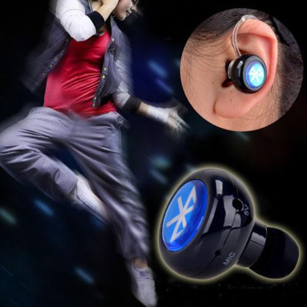 2017 Mini-a Wireless Stereo Bluetooth 4.0 In-Ear Earphone Headphone Headset with Microphone for Mobile Cell Phone Laptop Tablet Earbuds