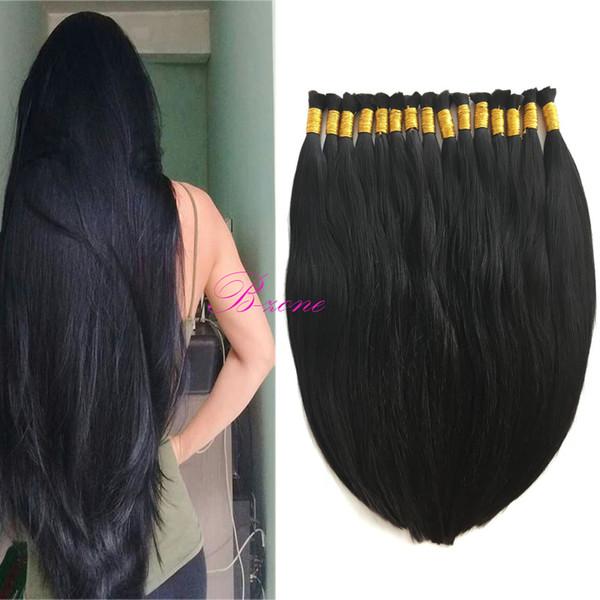 top popular Free shipping 8A Micro mini Braiding Hair Brazilian Bulk Hair For Braiding One Bundle Lot 100% Human Straight Brazilian Braiding Hair 2019