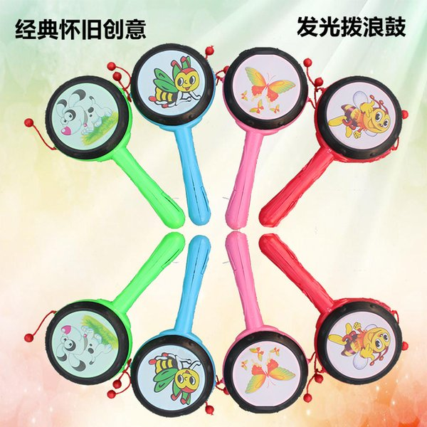 Light hand drum wholesale supply of infant rattle stall selling luminous toy baby gift