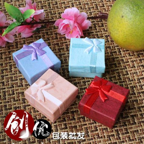 best selling Top jewelry box fashion gift box custody blue pink red purple color 4 cm* 4 cm