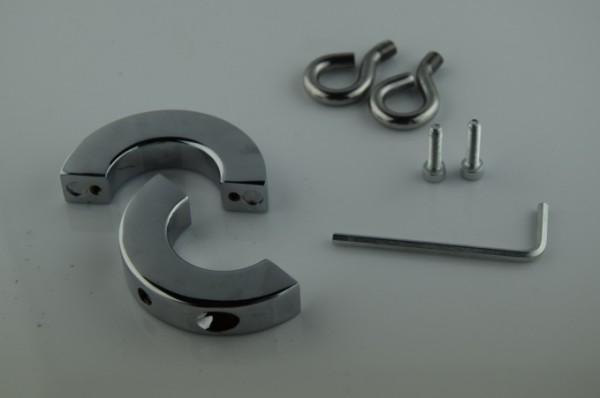 nouveaux jouets en acier inoxydable anal et balle anneaux coq godes anneaux dispositifs de chasteté bondage, sex toys pour hommes, SM256-8OZ