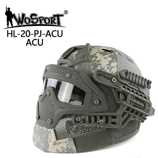 top popular New Tactical Helmet BJ MH PJ ABS Mask with Goggle for Airsoft Paintball Army WarGame Motorcycle Cycling Hunting 2021