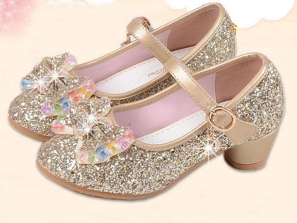 Nouveaux Enfants Princesse Perle Perles Sandales Enfants Fleur De Mariage Chaussures Talons hauts Robe Chaussures Parti Chaussures Pour Filles Rose G946