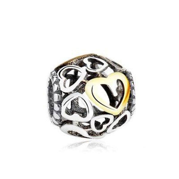 2018 Unique Pure Silver 925 Symbol Charms Beads Fit Pandora Style