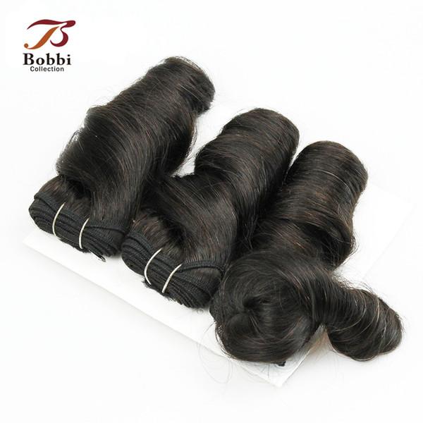 3шт романтика локон бразильский перуанский Индийский малайзийский камбоджийский девственные человеческие волосы плетение двойная объемная волна 55 г / шт Короткий боб стиль
