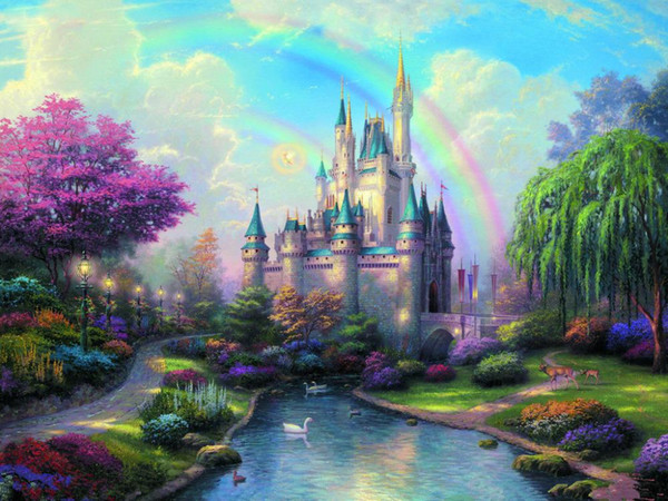 best selling Castle theme Vinyl Photography Backdrops Prop Custom Photography Background CA181