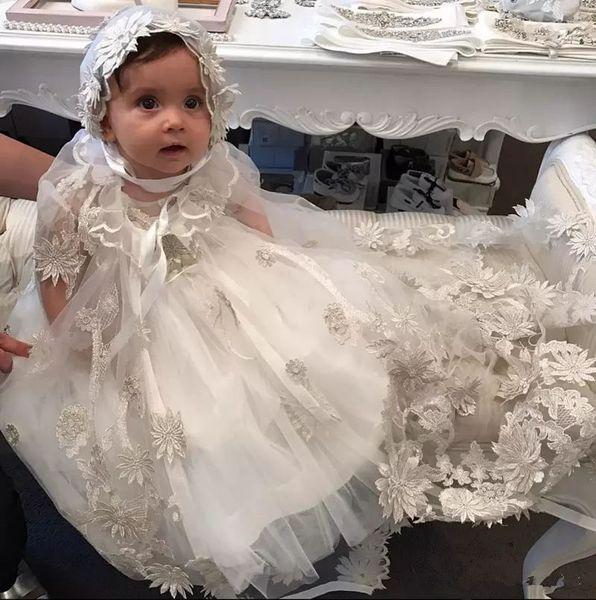 Großhandel Stilvolle 3d Applizierte Taufkleider Mit Kurzen ärmeln Für Baby Taufe Kleider Preiswertes Tulle Kind Erstes Kommunikations Kleid Von