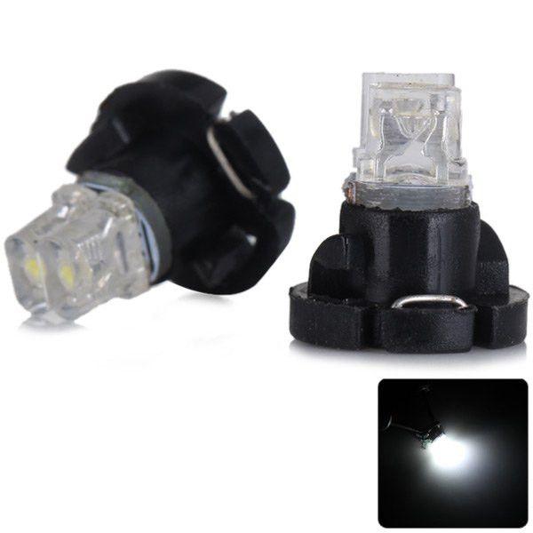 2 stücke DC 12 V Auto Armaturenbrett Messer Lichter Signal Lampen für Fahrzeug Praktische Sencart T4.2 Weißes Licht 2 LEDs Auto Instrument Licht