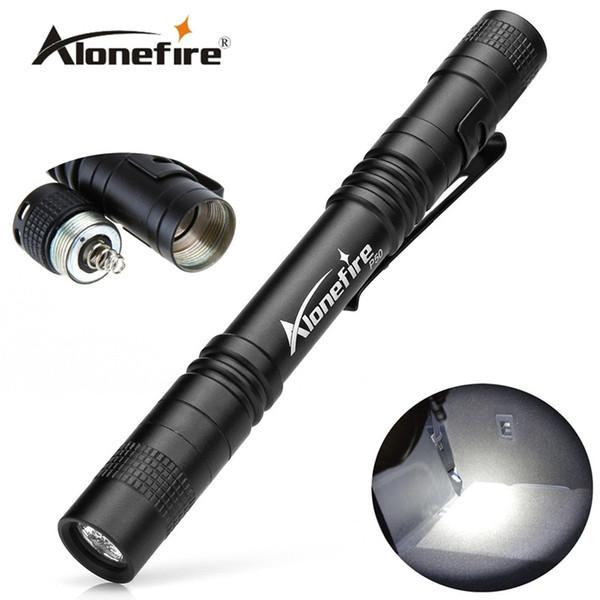 AloneFire P50 CREE LED Mini Taschenlampe Gürtelclip Taschenlampe tragbare Taschenlampe Lampen, verwenden AAA Batterie Taschenlampe
