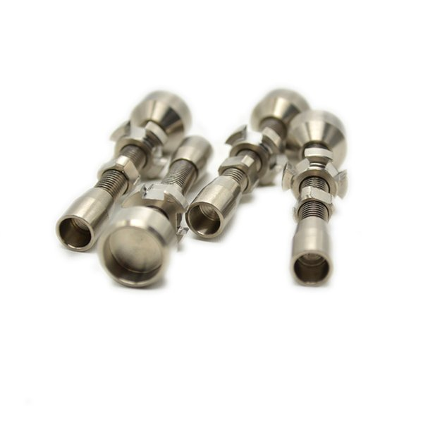 Doppio banger per titanio senza chiodi in titanio grado 2 regolabile 14 mm 18 mm per tubi da fumo Strumenti Accessori Tappi olio