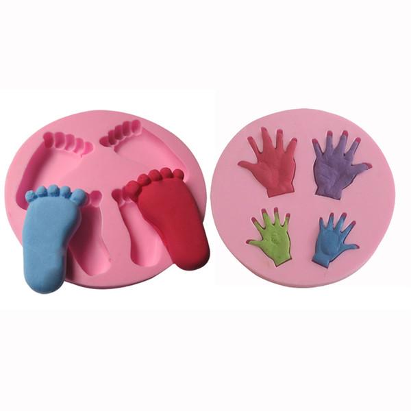 Großhandel Baby Set Silikon Kuchen Form Fondant Baby Hände Füße ... | {Backformen 52}