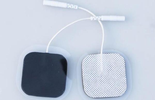 Angel Premium Self Adhesive TENS/EMS Unit 40 Electrode Pads . Reusable Self Stick Gel Carbon Electrodes (White Cloth)