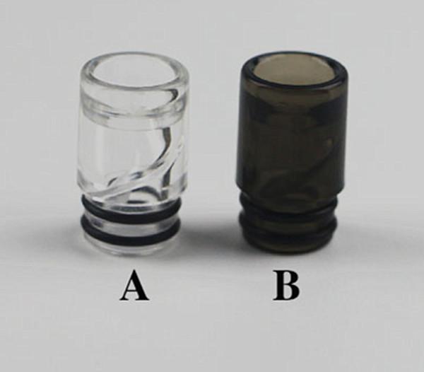 510 spiral damla ipuçları plastik şeffaf siyah vape ağız ucu anti tükürme geri buhar İpuçları kangertech ağız parçası