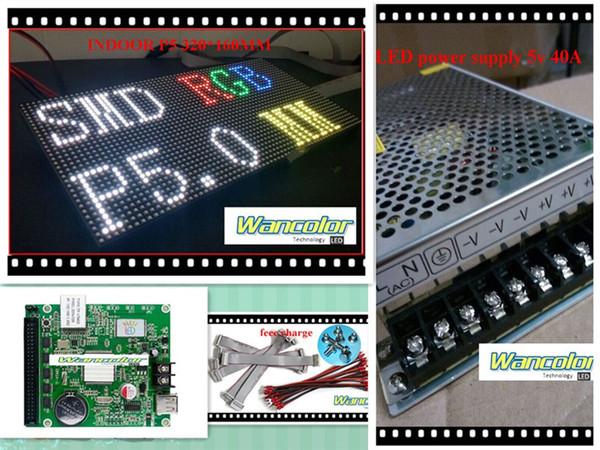 spedizione gratuita fai da te display a led 18 pz P5 Indoor Full Color Led Module (320 * 160mm) + controller + alimentatore