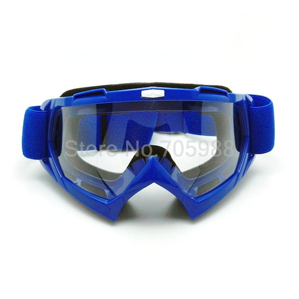 Blue orcycle Motocross Dirt Bike Cross Country Flexible Goggles