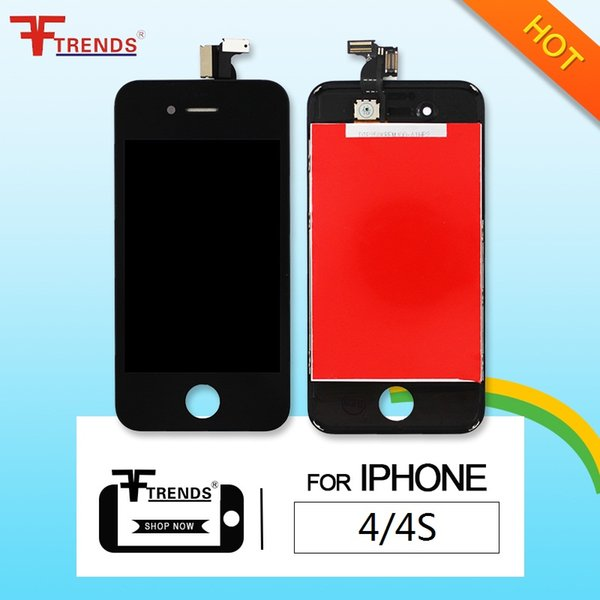 for iPhone 4 4S LCD Display & Touch Screen Digitizer Full Assembly Replacement Repair Parts Cheap Price 20pcs/lot Black White Free Shipping