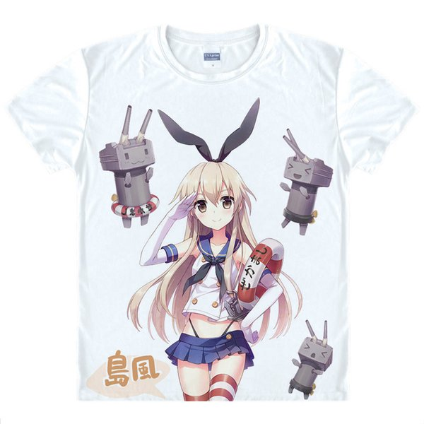 Maliaike Anime Kantai Collection Warships Island Wind Japanese Clothing Breathable Comfortable T-shirt Cosplay Gift