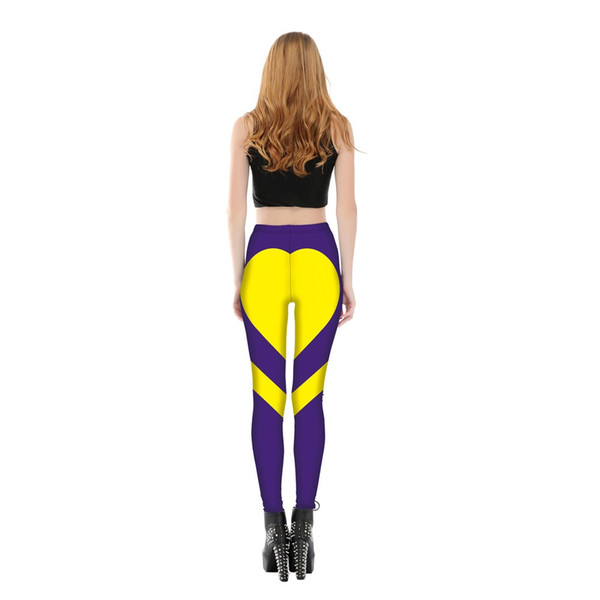 's Fashion Sports Outdoor Pants Special Design Yoga Leggings Heart Booty Pants Running Tights Crop Workout Pants 6 Colors
