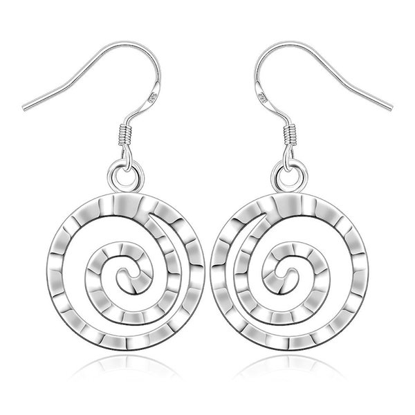 925 Jewelry Silver Plated Earrings 925-sterling-silver Fashion Jewelry Round Thread Earrings Hot Sale Simple Style Dangle Earring Cheap Gift