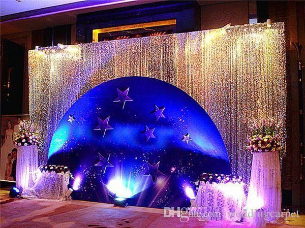 Glitter Bling 9mm Sequins Fabric For Wedding Table Cloth Decorations Backdrop Wedding Gauze Background Curtain Sequined Fabric 9 color
