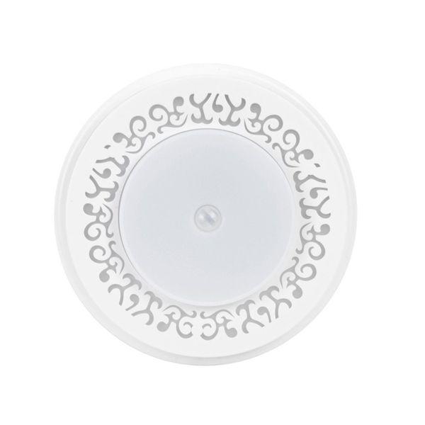 Inducción del cuerpo humano Lámpara Redonda Fuente de Luz LED Sensor de Luz para Estantería Zapatos de Armario Gabinete Decoración Para El Hogar