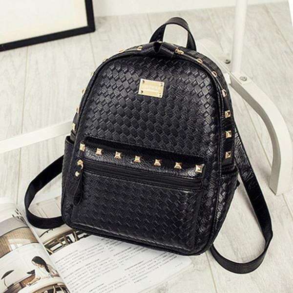 Мода молния рюкзак 2017 новый корейский Сумка женская сумка ткачество дамы роскошные сумки женщины сумки дизайнер рюкзак