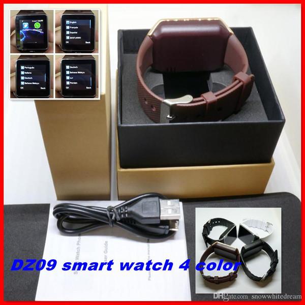 DZ09 Bluetooth SmartWatch phone For Android LG HTC SIM Card Wrist Watch Pk U8 GT08 A1 GV18 Smartwatch Smart Watches