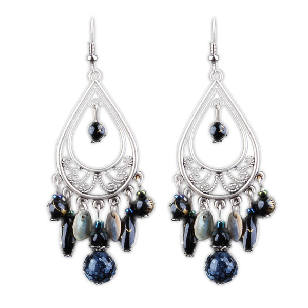 Shipping 2018 explosion models retro long Tassel Earrings Pierced Earrings women jewelry Bohemia cross-border exaggerated personality
