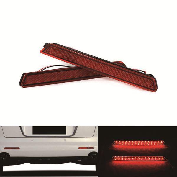 For Mazda2/3/6/8 Rear Bumper Reflector Light Parking warning Car Styling Stop Brake DC 12V 2X 5W LED bulb Lamp