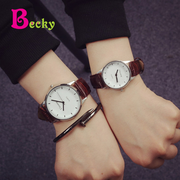 Watch male student Korean version of minimalist tide fashion teen casual girl Mori Harajuku wind couple watch a pair of watches